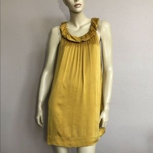 BCBGMaxAzria Gold Silk Mini Dress